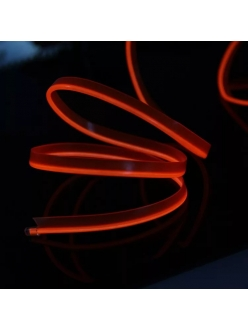 Неоновая лента Красная с плавником 1м + инвертор в прикуриватель