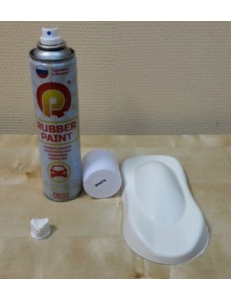Белая матовая резина, Баллончик 390мл