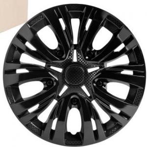 Колпаки колесные 13' Лион, черный глянец, карбон 4шт