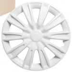 Колпаки колесные 13 Торнадо, белый, карбон, 4шт