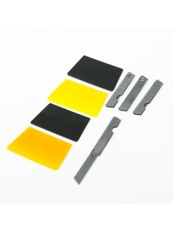 Набор для установки тонировочной пленки Главдор (4 ножа, 4 шпателя)