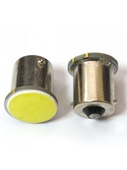 Лампа светодиодная (1 конт), COB диод, сплошная заливка, белая (поворот,стоп-сигнал), BA15s