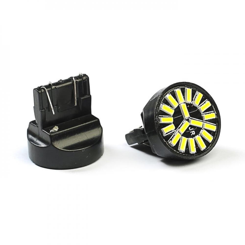 Лампа светодиодная Т20 б/цок, 2 конт, 18 диод, белая