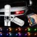 Лампы RGB T10 в габаритные огни с пультом ДУ (режим стробоскопов)