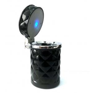 Пепельница автомобильная с подсветкой 036 черная
