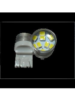 Лампа светодиодная Т20 б/цок, 2 конт, 9 диод, белая