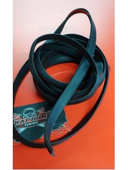 Резинка уплотнительная со скотчем черная 1,7м