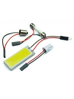 Лампа светодиодная  COB диод 50*20мм (сплошная заливка), 2 переходника, скотч, 12v