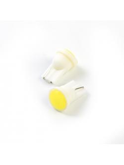Лампа светодиодная Т10 б/цок 1 COB диод, желтая