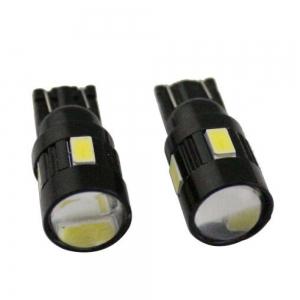 Лампа светодиодная Т10 линза, SMD6 (5630)