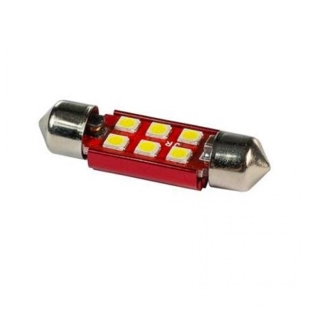 Лампа светодиодная 11-36 SMD6 (3030), радиатор, 12-24v