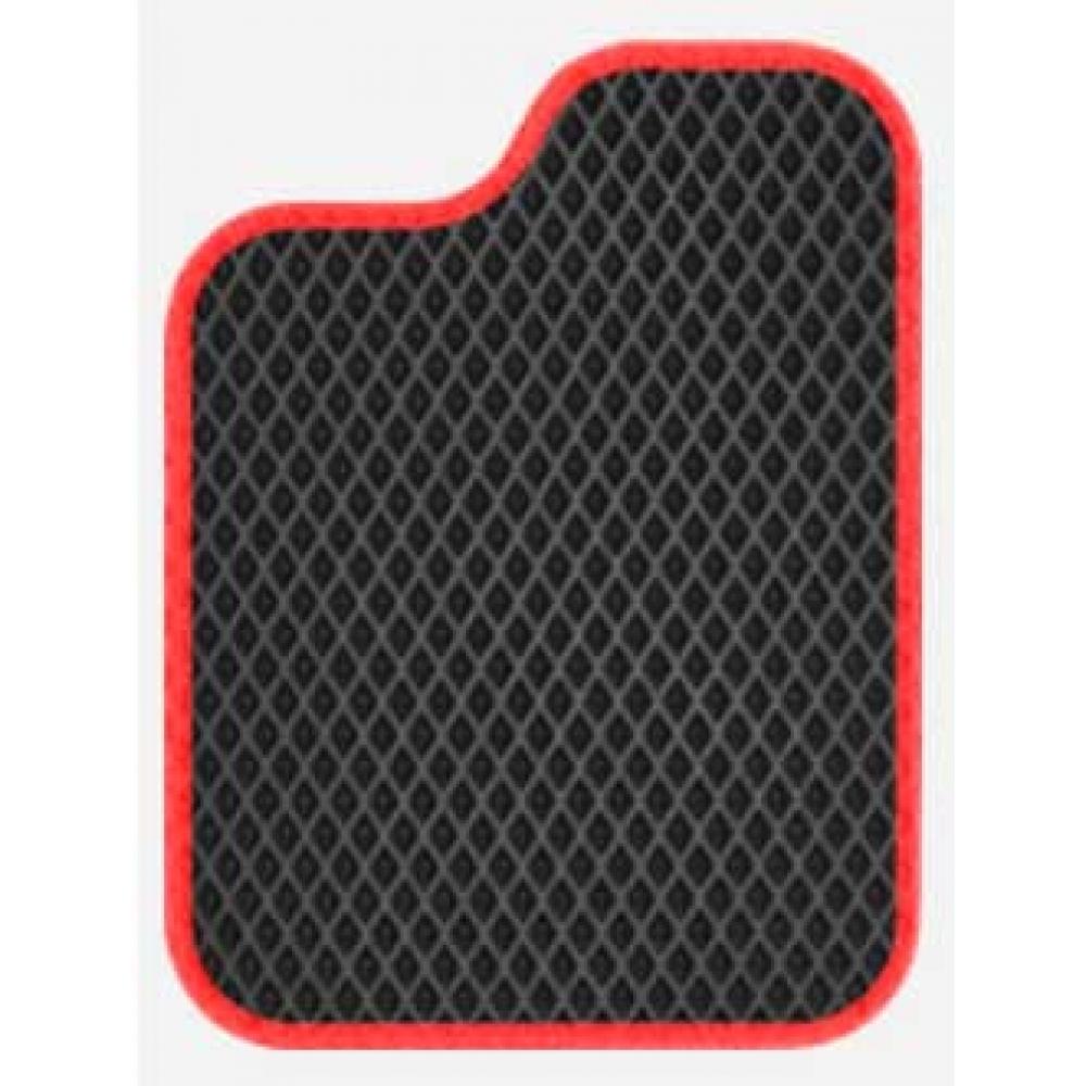 Полимерные коврики ВАЗ 2101-2107 черные+красный кант