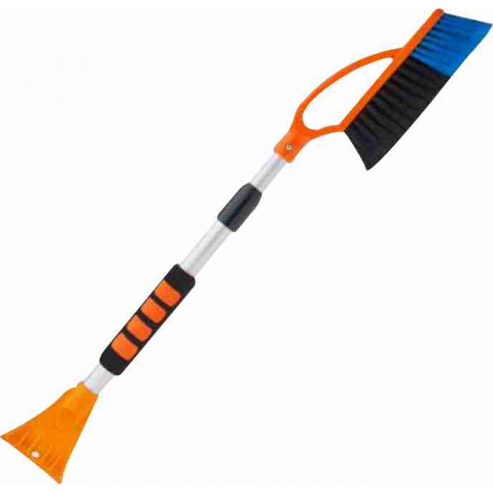 Щетка для снега со скребком телескопическая 76-104см GT br205