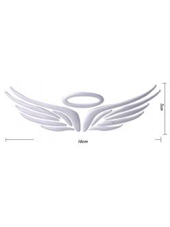 3Д стикер Крылья и ореол ангела на значек авто