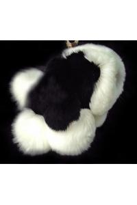 Брелок  Собачка, черный/белый