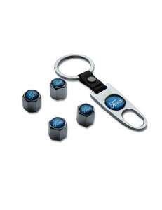 Брелок-ключ + 4 колпачка на ниппель FORD