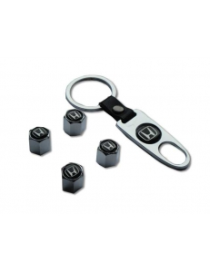 Брелок-ключ + 4 колпачка на ниппель HONDA