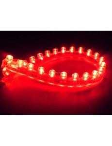 Светодиодная лента 24 LED , 24 см, красная