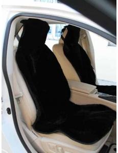 Накидка на сиденье из овечьей шерсти черная