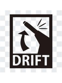 DRIFT  наклейка на стекло автомобиля