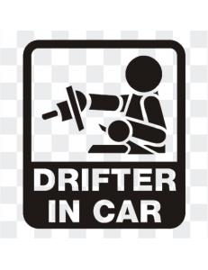 Drifter in Car  наклейка