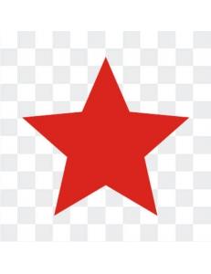 Красные звезды наклейка