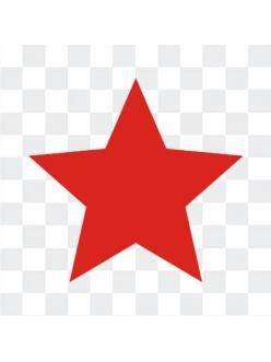 Красные звезды наклейка ко Дню Победы 9 мая