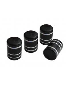 Колпачки на ниппель Черные с полосками