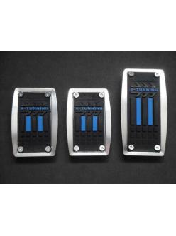 Накладки на педали с синей резиновой вставкой