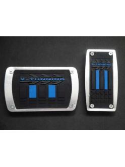 Накладки на педали с синей резиновой вставкой АКПП