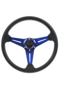 Спортивный руль синий, 35см