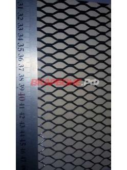 Сетка радиатора 33х100см черная крупная ячейка