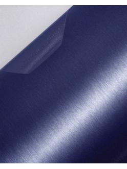 Пленка с текстурой шлифованного алюминия Синяя