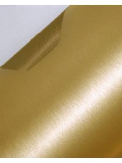 Пленка с текстурой шлифованного алюминия Золотистая