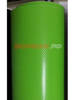 Салатовый 4Д карбон
