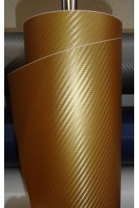 Золотистый 3Д Карбон
