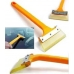 Силиконовый скребок с длинной ручкой желтый