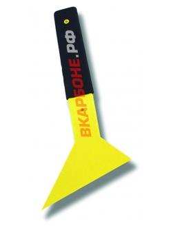 Уголок-выгонка большой желтый с резиновой ручкой
