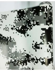 Камуфляж Пиксель Черно-Белый