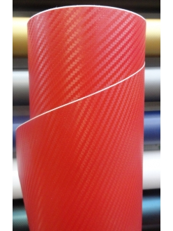Красный 3Д Карбон