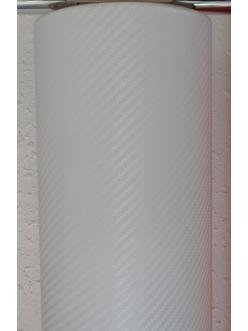 Пленка виниловая под 3D карбон Белый